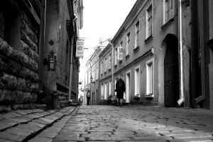 Street in Tallinn Old Town by Kuradisiim