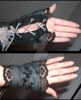 'Floral Lace Lolita Goth Style Gloves' 1 by CheyenneLeHale