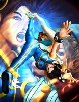 Chun Li vs Cammy by whiteguardian