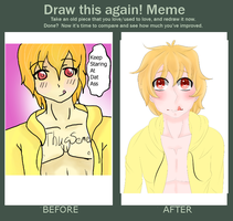 Improvement Meme. Sept. 2014 - Feb. 2015 by Hime-Uke