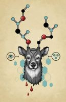 molecular skeleton of deer by Amap0la