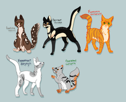 Felines Of The Grove Kitty Cats [Peakclan] by Kama-ItaeteXIII