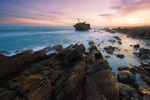 Wreck Sunset by Dreampixphotography