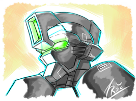 Bedtime Sketch - Mech Head by FontesMakua