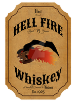 Hell Fire whiskey by hide0in0the0dark