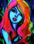 Femme 382 under black light by sagittariusgallery