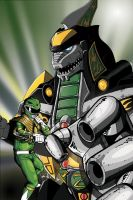 Lexington Comic-con Dragonzord Print Colours by palmaay