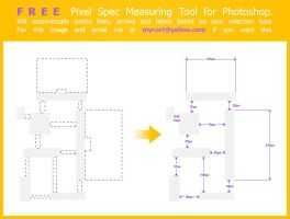 Pixel Spec Measuring Script for Photoshop by mycort