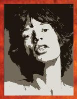 Mick Jagger Painting - 69.00 by Hodgy-Uk