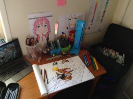 My Work Area!! by TheSassyFox