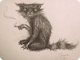 The Smoking Raccoon by PainkillerZombie