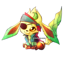 Pirate Leafeon - Buried Treasure Charity Collab! by rydi1689