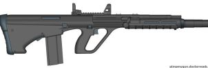 Full-stock, bullpup, suppressed, assault rifle by BurnerMeen