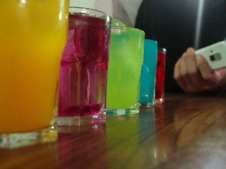 Colour drinks by Carboncillapando