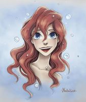 Ariel (colored) by natalico