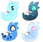 Blue Marshmallow dragons adopts (closed) by AlphaPower