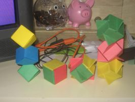 Origami Evolution:J.Cube-I.C. by musicmixer112