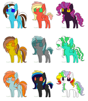 5 Point Ponies ..::OPEN 7/9 ::.. by love-the-adopts