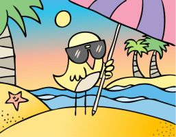 Birdie goes on holidays by arwenita