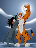 Anthropomorphic Jasmine and Rajah by manony