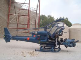 Cobra Commander arrives on Blue Thunder helicopter by Krulos
