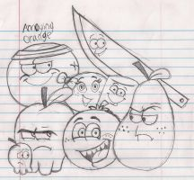 YouTube Sketch: Annoying Orange by gilster262