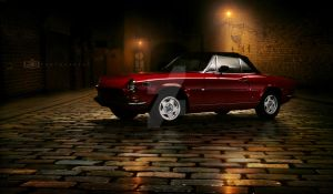 Fiat 124 Sport Spider in the Oldtown by GandCphotography