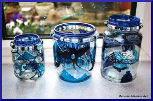 Blue Candles by Bonniemarie