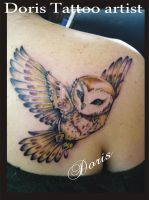 barn owl by doristattoo