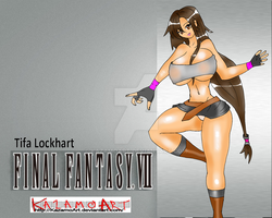 Tifa Lockhart - FF7 wallpaper by kazamoArt