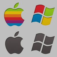 rEFIt Boot Icons (Mac and Windows logos) by Darnton