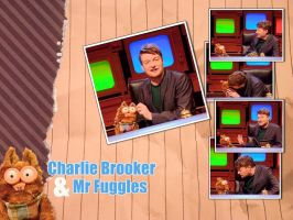 Charlie Brooker and Mr Fuggles by sn0otchie