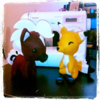 Epona and Keaton plushies from Zelda by Miss-Zeldette