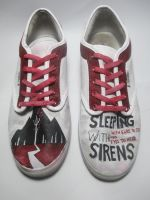 Sleeping with Sirens Custom Shoes by Acrylicolt