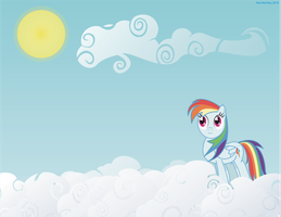 Dashie and her Lonely Sky by AlextheArtsy