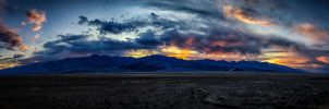 Death Valley Sunset Panorama by eprowe