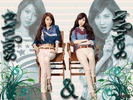 SNSD Sooyoung and Seohyun Wallpaper by mandana21