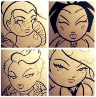 Preview of 4 new chibi by ChibiCelina