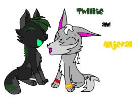 Twilite and Anjeval_day by D0ra0g0n