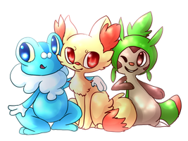 Kalos Starters by Kitzophrenic