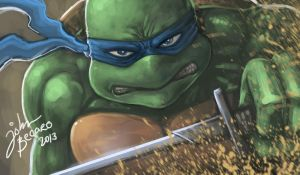 WARM UP: Leonardo Of Teenage Mutant Ninja Turtles by johnbecaro