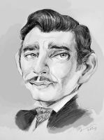 Clark Gable caricature by Mandala87