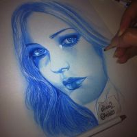 avril lavigne SKETCH colored pencil by Aeriz85