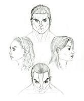 Sketches of persons_2 by JekaSilverBear