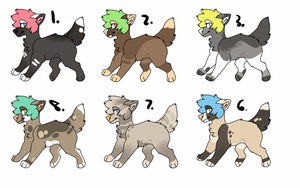 Dog Adopts (OPEN) by CivetDog