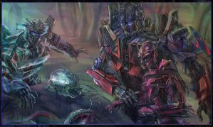 Wheeljack, Optimus, Elita by darefi