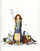 My Sister as a Hufflepuff by Kitty-Grimm