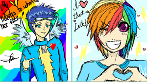 Iscribble RainbowDashxSoarin by JMeh