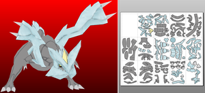 kyurem papercraft xy done by javierini