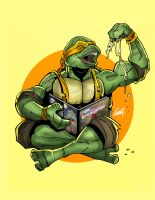 Pizza and Reading Time! by geogant
